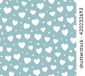 seamless hearts and dots... | Shutterstock .eps vector #420232693