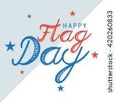 vector illustration of flag day ... | Shutterstock .eps vector #420260833