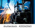 welding robots movement in a... | Shutterstock . vector #420262063