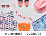 accessories clothes fashion set.... | Shutterstock . vector #420285703