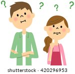 young couple harbor doubts | Shutterstock . vector #420296953