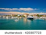 town of zadar harbor view ... | Shutterstock . vector #420307723