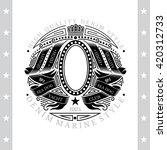 oval frame in center between... | Shutterstock .eps vector #420312733