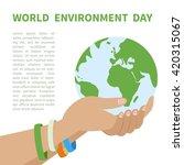world environment day. vector... | Shutterstock .eps vector #420315067