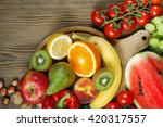 vitamins in fruits and... | Shutterstock . vector #420317557