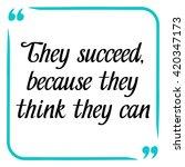 success quote. handwritten... | Shutterstock .eps vector #420347173