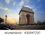 the india gate | Shutterstock . vector #420347737