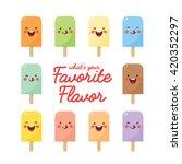 vector set of various flavor...   Shutterstock .eps vector #420352297