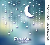 purple ramadan kareem... | Shutterstock .eps vector #420376237