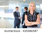 business woman standing in... | Shutterstock . vector #420386587