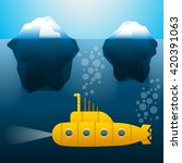 the submarine under the water.... | Shutterstock .eps vector #420391063
