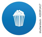 popcorn icon design on blue... | Shutterstock .eps vector #420391417