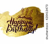happy birthday greeting card.... | Shutterstock .eps vector #420413473