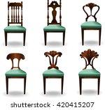 elements of interior chair... | Shutterstock .eps vector #420415207