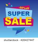 sale banner vector. 50 off.... | Shutterstock .eps vector #420427447