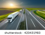 three new trucks in a row... | Shutterstock . vector #420431983