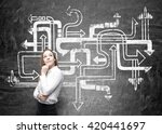 different direction concept... | Shutterstock . vector #420441697