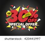 sale 30  off with abstract... | Shutterstock .eps vector #420441997