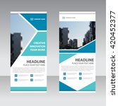 blue business roll up banner... | Shutterstock .eps vector #420452377