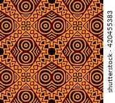 traditional african tribal... | Shutterstock .eps vector #420455383