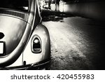 rear of vintage car   black and ... | Shutterstock . vector #420455983