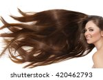 girl with long hair | Shutterstock . vector #420462793