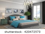 bedroom interior. 3d... | Shutterstock . vector #420472573