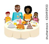 happy multicultural family... | Shutterstock .eps vector #420493933