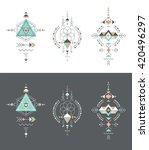 esoteric  alchemy  boho ... | Shutterstock .eps vector #420496297