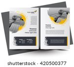 flyer brochure design  business ... | Shutterstock .eps vector #420500377