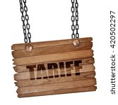 tariff  3d rendering  wooden...