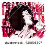 music jazz  afro american jazz...   Shutterstock .eps vector #420508507