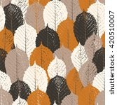 seamless pattern with chestnut... | Shutterstock .eps vector #420510007