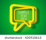 two text frame with shadow  | Shutterstock .eps vector #420510613
