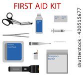 first aid kit. medical... | Shutterstock .eps vector #420515677