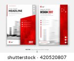 red cover design for annual... | Shutterstock .eps vector #420520807
