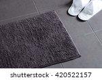 door mat with slipper shoes on... | Shutterstock . vector #420522157