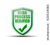 usda process verified shield...   Shutterstock .eps vector #420524083