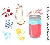 smoothies wild berry and... | Shutterstock .eps vector #420529183