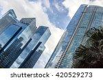 skyscrapers in downtown of... | Shutterstock . vector #420529273