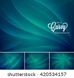 curvy abstract background. each ... | Shutterstock .eps vector #420534157