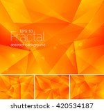 fractal abstract background.... | Shutterstock .eps vector #420534187