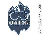 mountain extreme badge. vector... | Shutterstock .eps vector #420535183