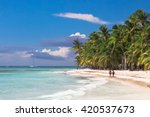 landscape of paradise tropical... | Shutterstock . vector #420537673