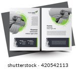flyer brochure design  business ... | Shutterstock .eps vector #420542113