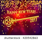 card happy new year 2017 on... | Shutterstock .eps vector #420542863