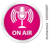 on air  mic icon  pink glossy... | Shutterstock . vector #420543007