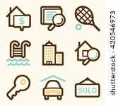 real estate web icons   Shutterstock .eps vector #420546973