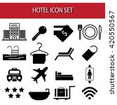 hotel icons  vector.set of... | Shutterstock .eps vector #420550567