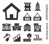 buying home icon set | Shutterstock .eps vector #420550603